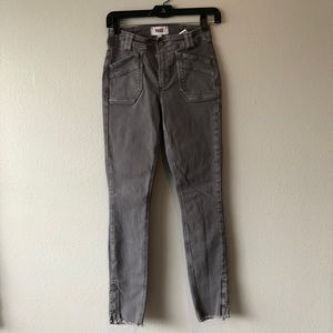 PAIGE Gray Skinny Jeans w/ Front Pockets